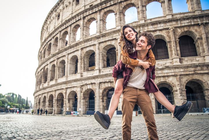 luna de miel en Roma